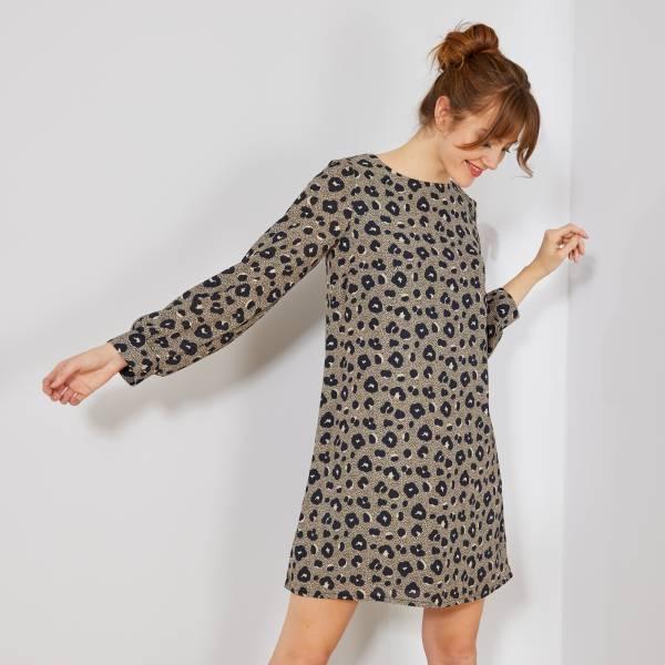 Robe Droite Imprime Leopard Femme Leopard Kiabi 20 00