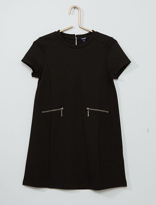 Robe droite maille milano                                                                 noir