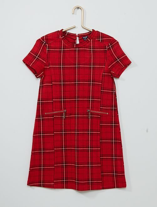Robe droite maille milano                                                                 rouge