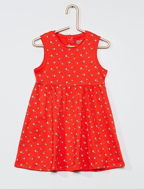 Robe 'éco-conception'                                                                             rouge/fleur