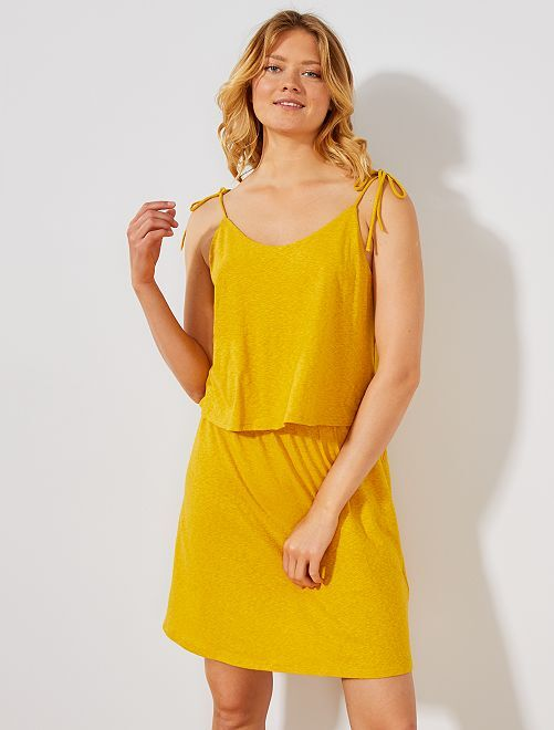 Robe effet 2 en 1                                                                 jaune curry Femme