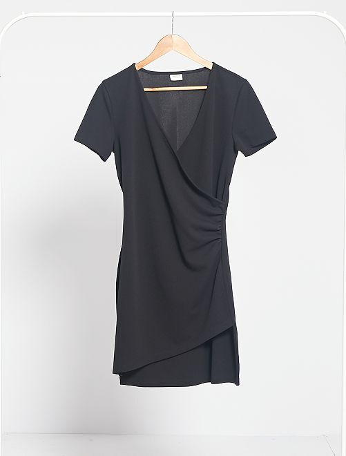 Robe effet cache-coeur 'Jacqueline de Yong'                             noir