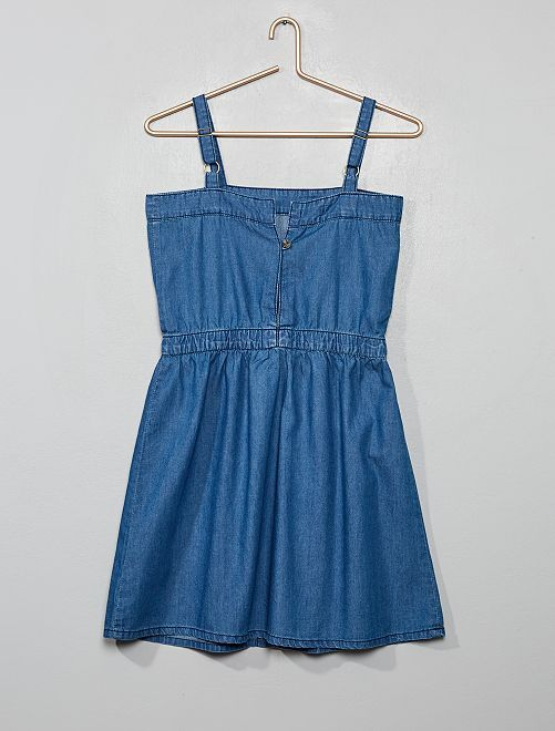 Robe en denim                             bleu
