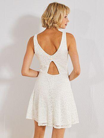 3aa61487ba549 Soldes robe blanche femme, robes longues et mi-longue blanches ...