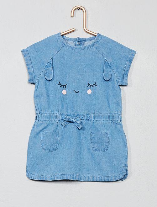 Robe en jean 'lapin'                                         bleu clair