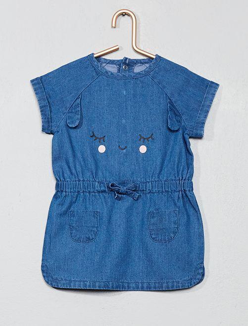 Robe en jean 'lapin'                                         bleu foncé