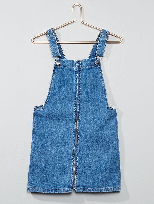 Robe en jean zippée                             bleu Fille adolescente