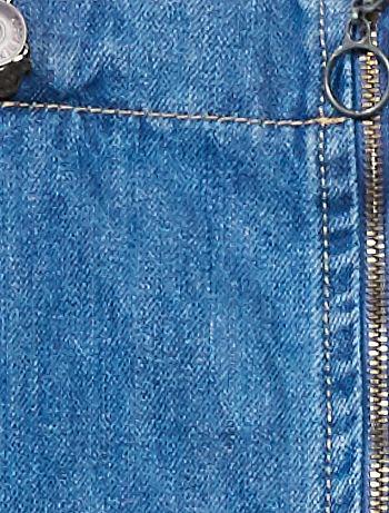 0e35bb1afee ... Robe en jean zippée vue 3 · Robe en jean zippée bleu Fille adolescente