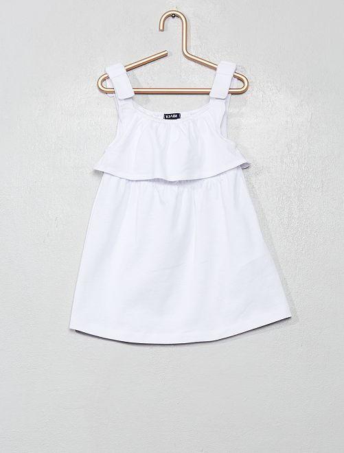 Robe en jersey à bretelles                                                     blanc
