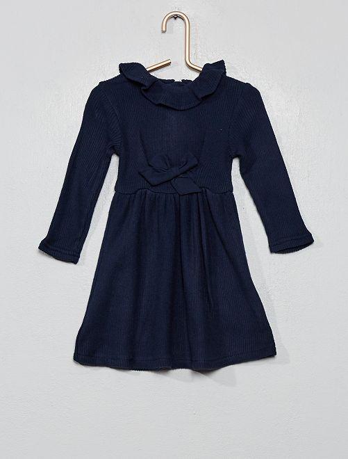 Robe en maille côtelé                                         bleu