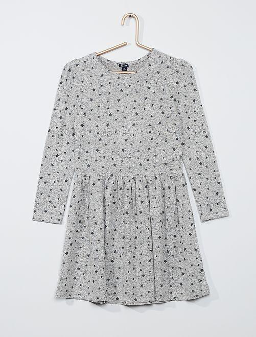 Robe en maille douce                                                     gris clair