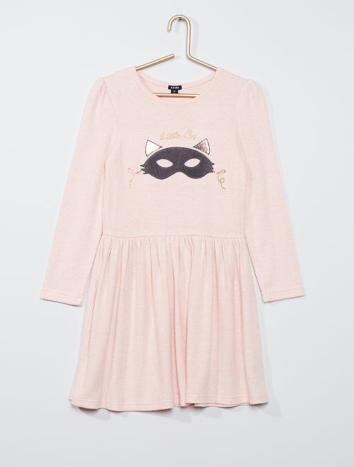 Robe en maille douce                                                     rose clair