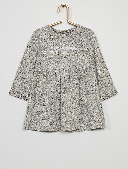 Robe en maille doudou                                                     gris