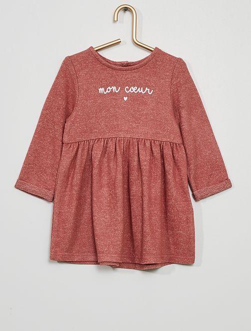 Robe en maille doudou                                                     rose