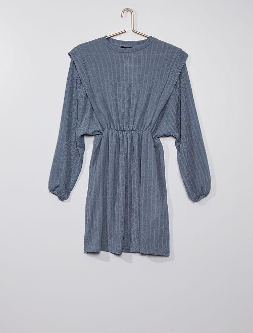 Robe en maille fantaisie                             bleu