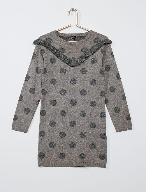 Robe en maille fine                                                                                                                 gris