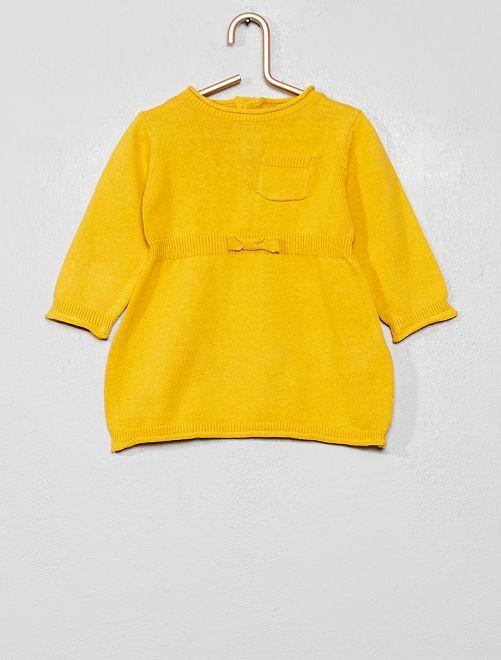 Robe en maille fine                                         jaune