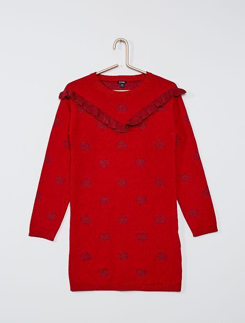 Robe en maille fine                                                                                                                 rouge