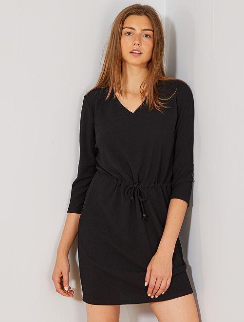 Robe en maille gaufrée 'JDY'                             noir