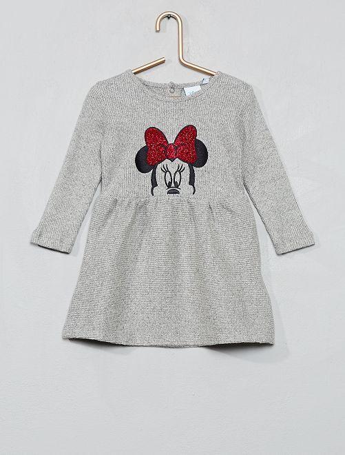 Robe en maille 'Minnie'                             gris