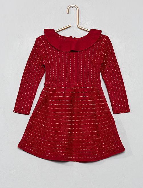 Robe en maille tricot                                                     bordeaux