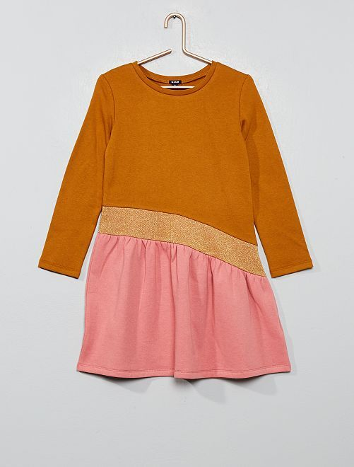 Robe en molleton                                                     jaune/rose