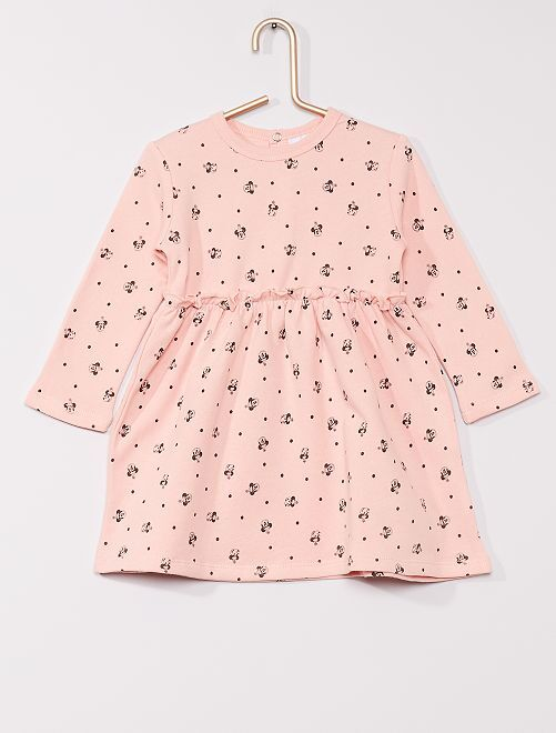 Robe en molleton 'Minnie' 'éco-conçu'                             rose