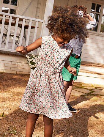 c77a1cb8bfca7 Vêtements filles (2-16 ans) Robes Été Tout-Petit Petite Fille Robe en Jeans  Enfant Combinaison ...