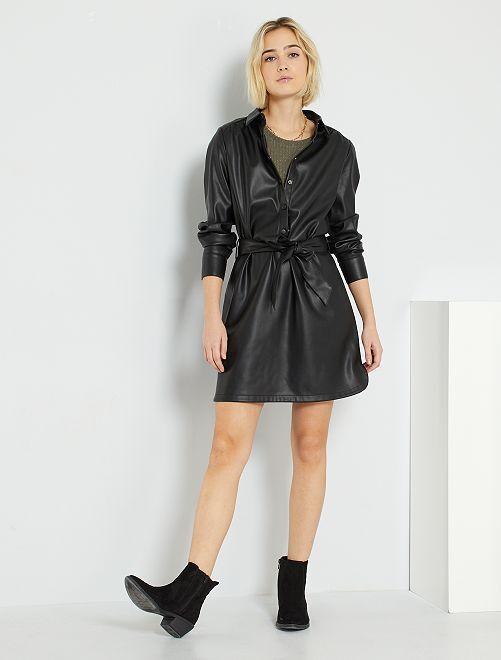 Robe en simili                             noir