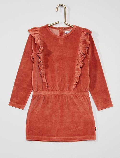 Robe en velours                             rose