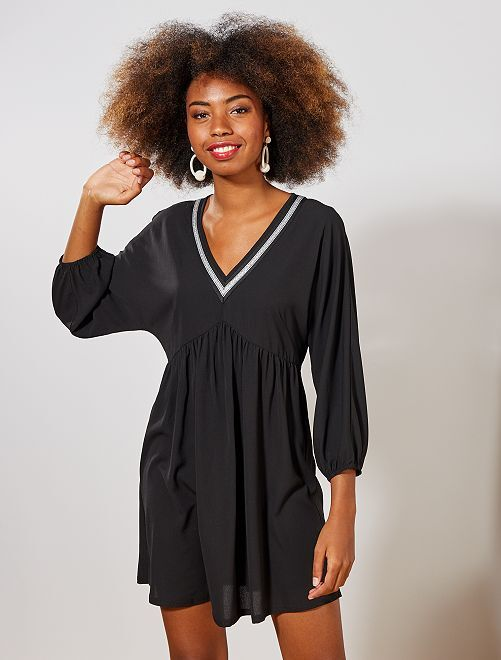 Robe encolure brillante                             noir