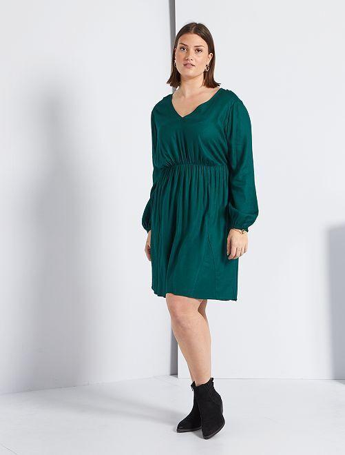 Robe encolure V                                         vert