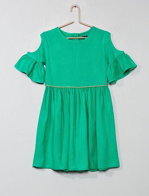 Robe épaules ajourées                                                                             vert Fille
