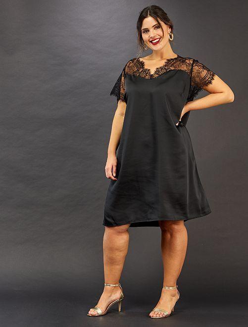 Robe esprit lingerie                             noir