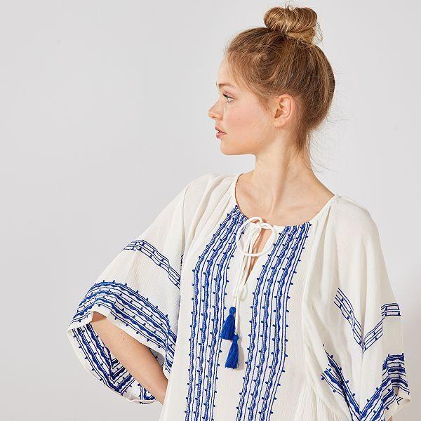 design intemporel grande collection 2019 original Robe ethnique forme kimono