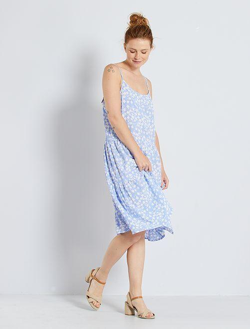 Robe fleurie 'JDY'                                         bleu clair