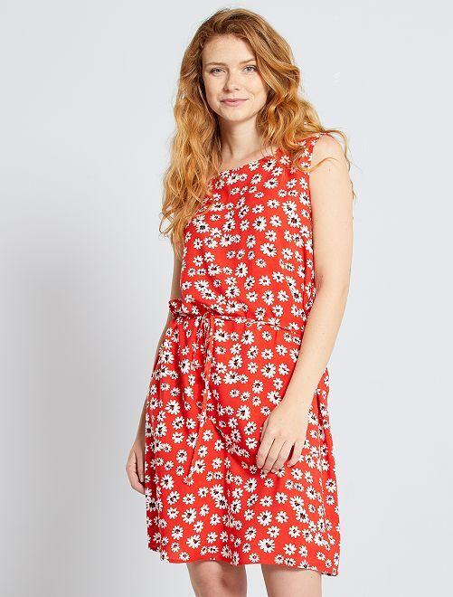 Robe fleurie 'JDY'                                                     rouge
