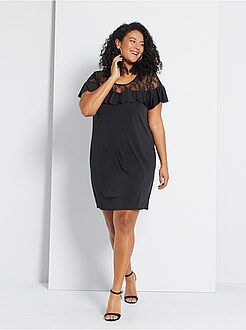 robe femme robe longue robe pull robe housse manches courtes femme kiabi. Black Bedroom Furniture Sets. Home Design Ideas