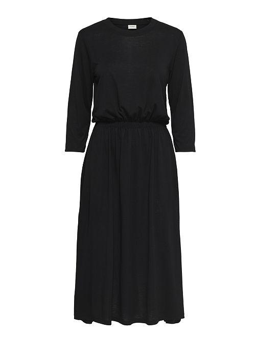 Robe fluide avec taille élastique                             noir
