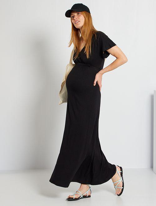 Robe fluide de maternité                             noir