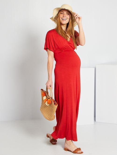 Robe fluide de maternité                                         rouge pompier