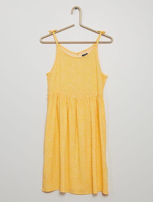 Robe fluide imprimée                                                                 jaune