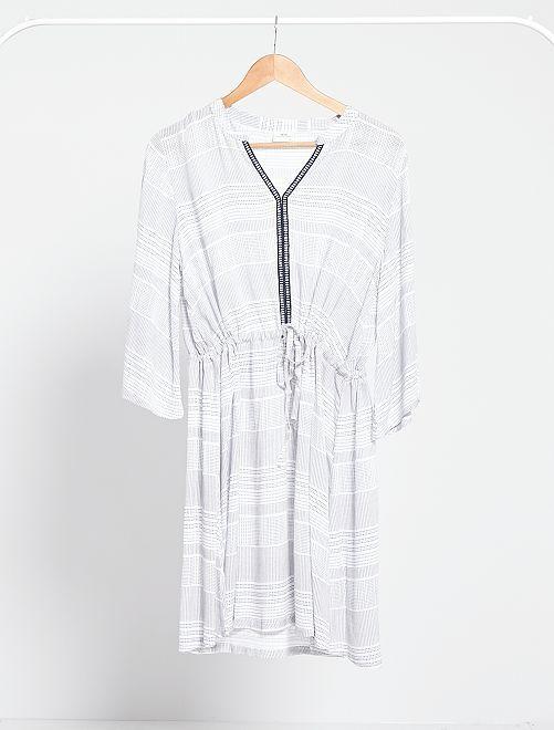 Robe fluide imprimée 'JDY'                             blanc