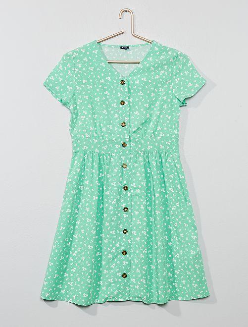 Robe fluide imprimée                                         vert Fille