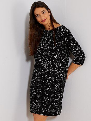 Robe fluide manches 3/4