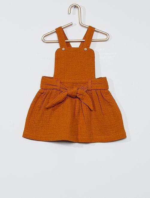 Robe gaze de coton                                                     marron