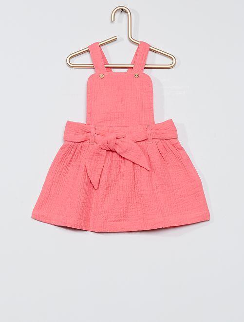 Robe gaze de coton                                                     rose