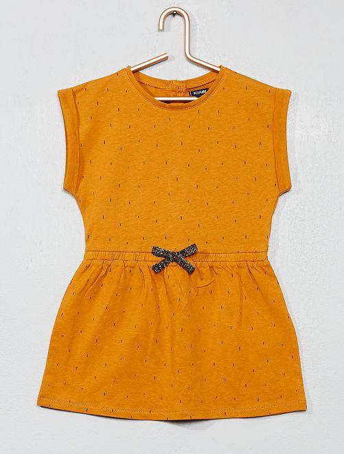 Robe imprimé                                                     imprimé jaune Bébé fille
