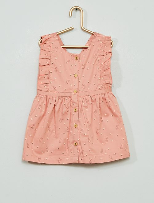 Robe imprimé 'lapin' éco-conçu                             rose