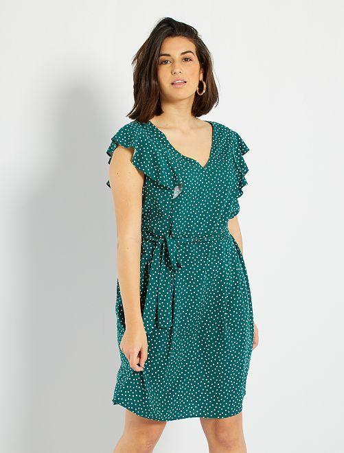 Robe imprimée basique                                                     vert